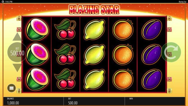 Play slots at Wicked Jackpots: Wicked Jackpots featuring the Video Slots Blazing Star with a maximum payout of $250,000