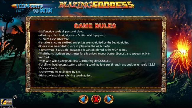 Blazing Goddess :: General Game Rules