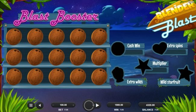 Vegas Spins featuring the Video Slots Blender Blast with a maximum payout of $2,000,000