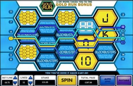 Blockbusters :: 187.50 coin big win jackpot