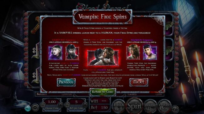 Blood Eternal :: Vampire Free Spins Rules