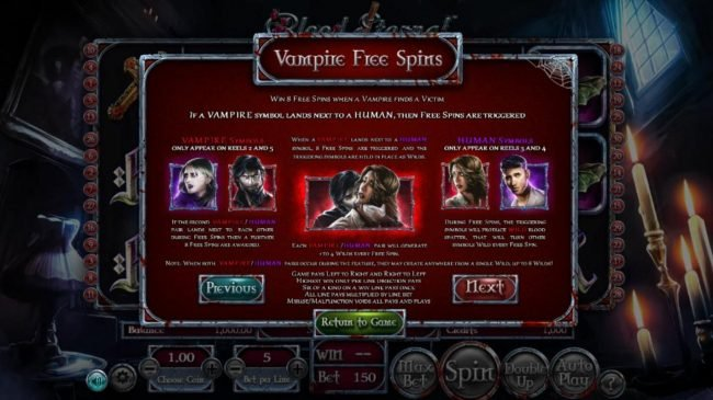 Top Bet featuring the Video Slots Blood Eternal with a maximum payout of $965,620