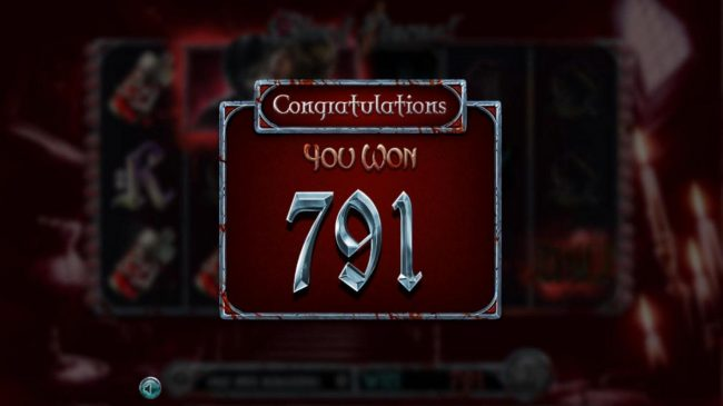 Blood Eternal :: Total free spins payout 791 coins