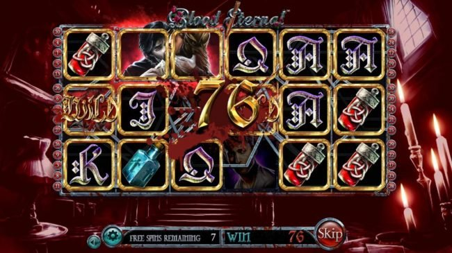 Blood Eternal :: Free Spins Game Board