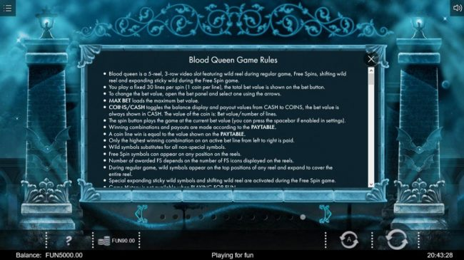 Blood Queen :: General Game Rules