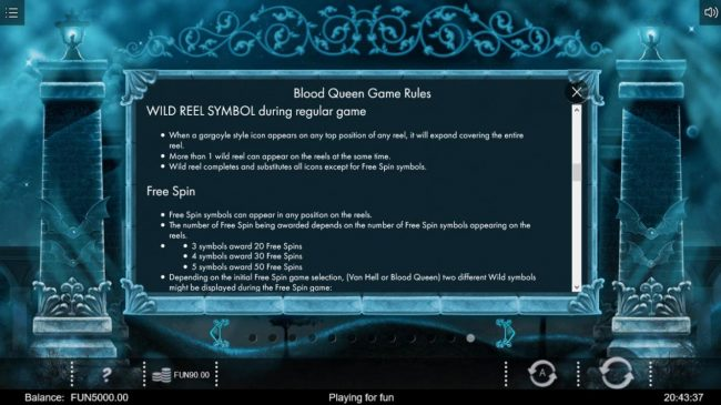 Blood Queen :: Wild Reel Symbol Rules