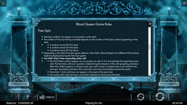 Blood Queen :: Free Spins Rules