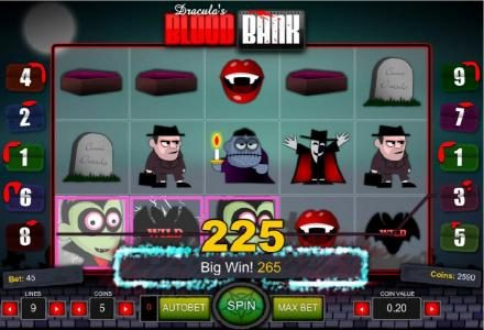 Fun Casino featuring the Video Slots Dracula's Blood Bank with a maximum payout of $1,000