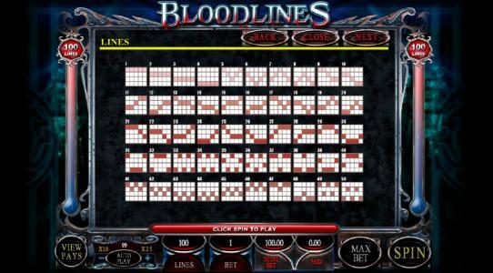 My Win 24 featuring the Video Slots Bloodlines with a maximum payout of $1,000
