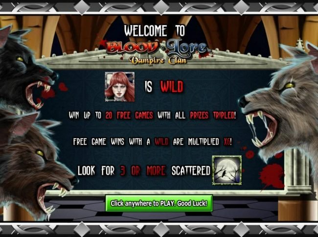 Napoli featuring the Video Slots Blood Lore Vampire Clan with a maximum payout of $125,000