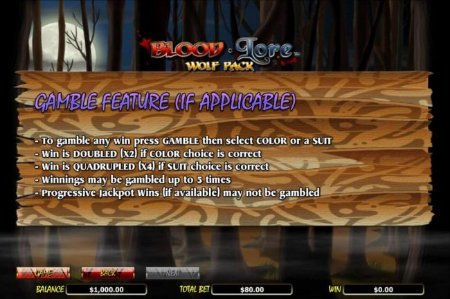 Play Hippo featuring the Video Slots Blood Lore Wolf Pack with a maximum payout of $20,000