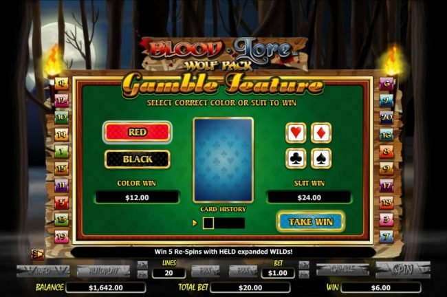 Play slots at Euro King: Euro King featuring the Video Slots Blood Lore Wolf Pack with a maximum payout of $20,000