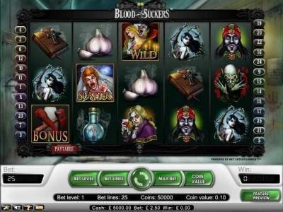 Play slots at Roy Richie: Roy Richie featuring the Video Slots Blood Suckers with a maximum payout of $15,000