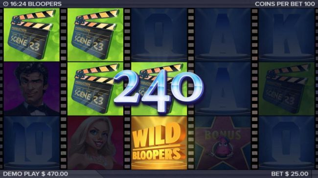 Fika Casino featuring the Video Slots Bloopers with a maximum payout of $185,000