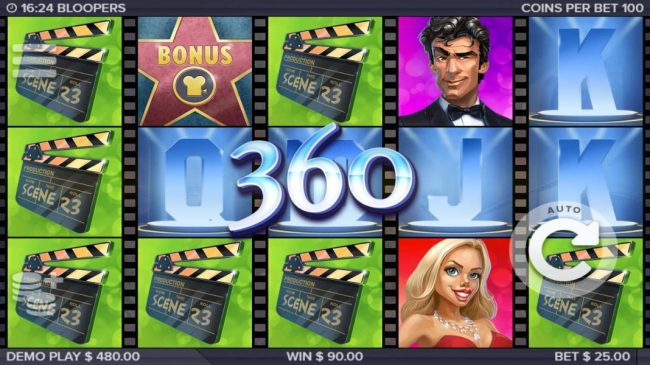 Play slots at Intercasino: Intercasino featuring the Video Slots Bloopers with a maximum payout of $185,000