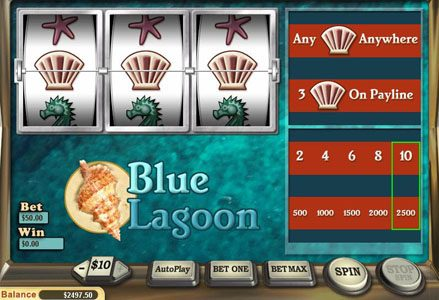 Play slots at Lincoln: Lincoln featuring the Video Slots Blue Lagoon with a maximum payout of $25,000