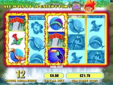 Leo Vegas featuring the Video Slots Blue Lagoon with a maximum payout of $15,000
