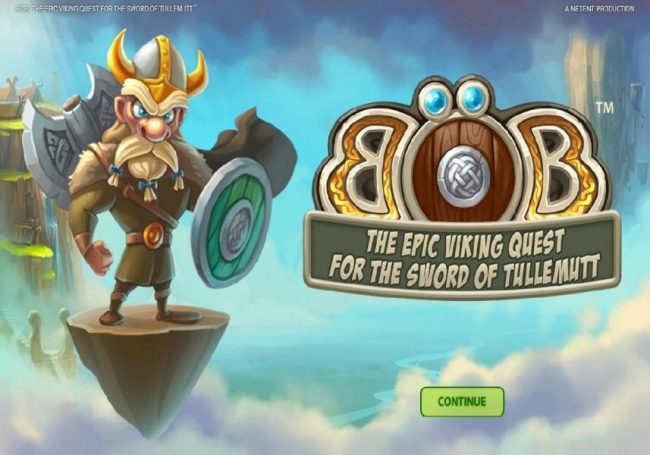 Free Spins featuring the Video Slots Bob The Epic Viking Quest for the Sword of Tullemutt with a maximum payout of $203,000