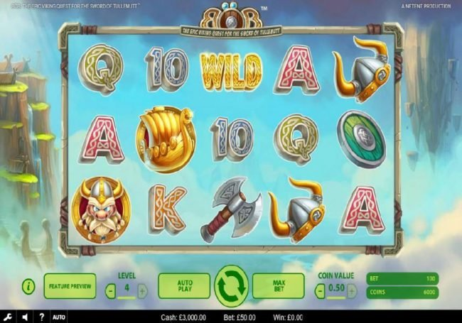 Llama Casino featuring the Video Slots Bob The Epic Viking Quest for the Sword of Tullemutt with a maximum payout of $203,000