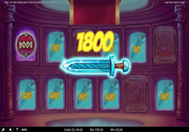 Play slots at Fruity Vegas: Fruity Vegas featuring the Video Slots Bob The Epic Viking Quest for the Sword of Tullemutt with a maximum payout of $203,000