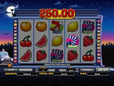 Lord of the Spins featuring the Video Slots Bobby 7s with a maximum payout of $200