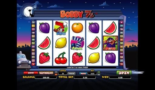 Play slots at Hello: Hello featuring the Video Slots Bobby 7s with a maximum payout of 10000x