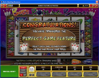 EypoBet featuring the Video Slots Bob's Bowling Bonanza with a maximum payout of $500,000