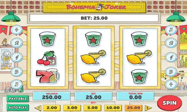 Play slots at Jellybean Casino: Jellybean Casino featuring the Video Slots Bohemia Joker with a maximum payout of $2,500