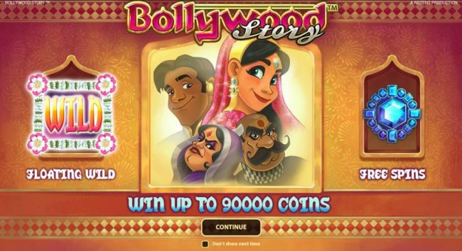 Play slots at 24 Bettle: 24 Bettle featuring the Video Slots Bollywood Story with a maximum payout of $900,000