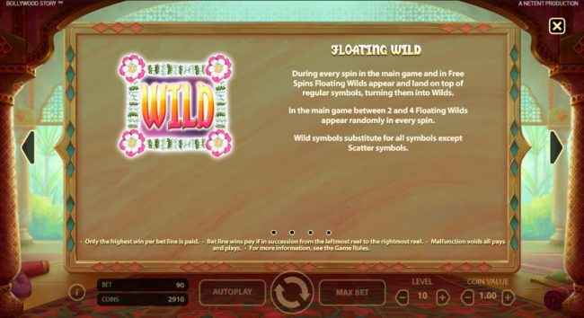 Slots Cafe featuring the Video Slots Bollywood Story with a maximum payout of $900,000