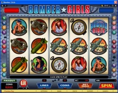 Play slots at SuperCat: SuperCat featuring the Video Slots Bomber Girls with a maximum payout of $750,000