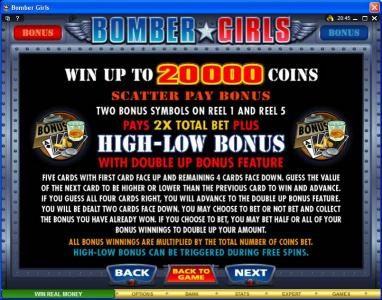 777Dragon featuring the Video Slots Bomber Girls with a maximum payout of $750,000