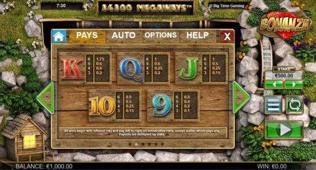 Play slots at Sin Spins: Sin Spins featuring the Video Slots Bonanza Megaways with a maximum payout of $25,000