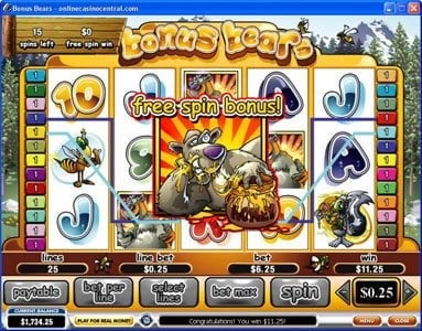 Mr Play featuring the Video Slots Bonus Bears with a maximum payout of $250,000