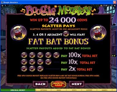 Slots Village featuring the Video Slots Boogie Monsters with a maximum payout of $120,000