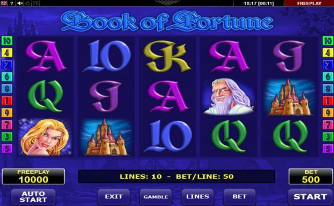 Yeti Casino featuring the Video Slots Book of Fortune with a maximum payout of $25,000