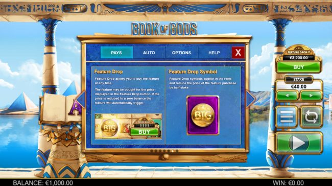 Spinland featuring the Video Slots Book of Gods with a maximum payout of $195,000