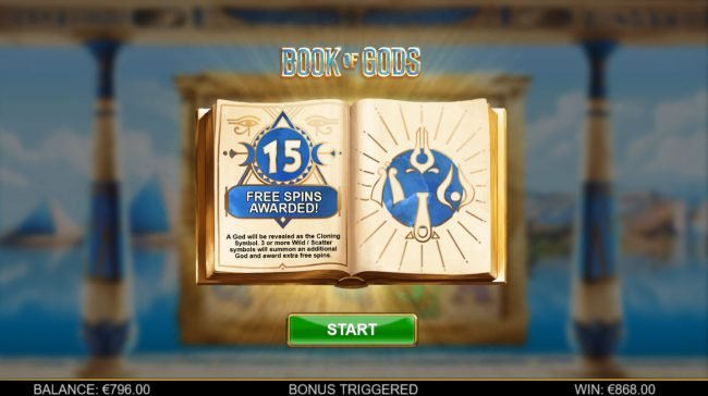 Spinrider featuring the Video Slots Book of Gods with a maximum payout of $195,000