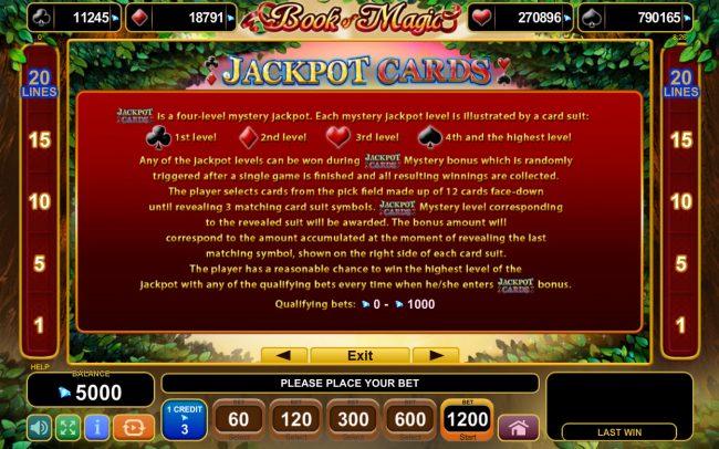 Play slots at Karamba: Karamba featuring the Video Slots Book of Magic with a maximum payout of $600,000
