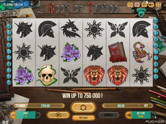 Playing the Extra Bet option allows player to have 6 reels for enhanced wins