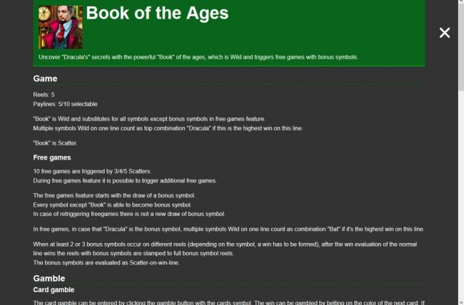 Book of the Ages :: General Game Rules