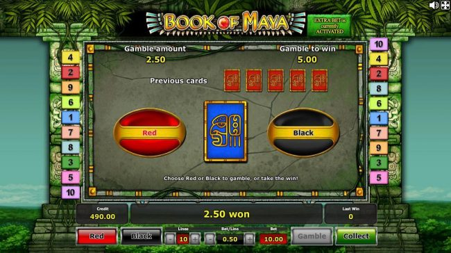 Casumo featuring the Video Slots Book of Maya with a maximum payout of $250,000