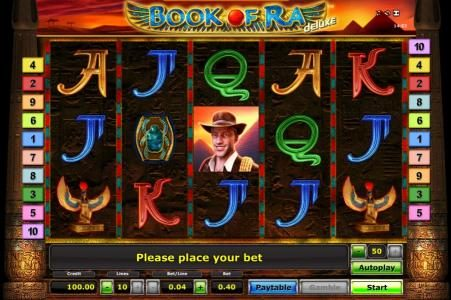 Book Of Ra slot game board