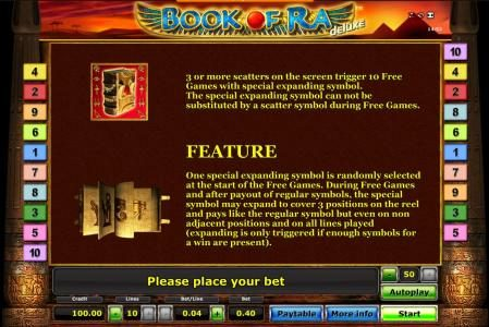 Book Of Ra slot game scatter symbol and special expanding symbol