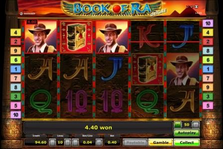 Book Of Ra slot game small jackpot