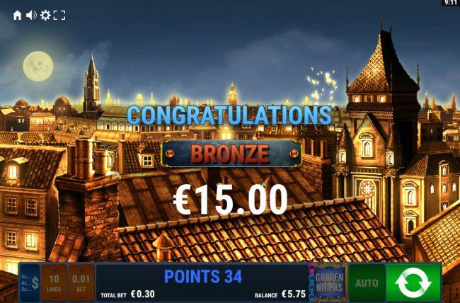 Bronze Jackpot Awarded