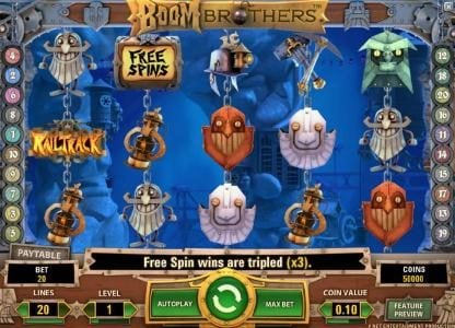 Play slots at Lucky Bets: Lucky Bets featuring the Video Slots Boom Brothers with a maximum payout of $37,500