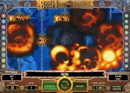 Svedala featuring the Video Slots Boom Brothers with a maximum payout of $37,500