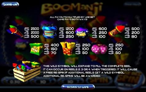 Real Bet featuring the Video Slots Boomanji with a maximum payout of $25,000