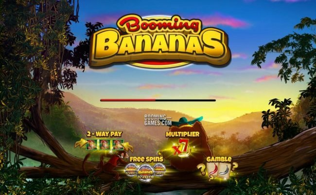 Booming Bananas :: Game features include: 2-way pay, free spins, x7 multiplier and gamble feature